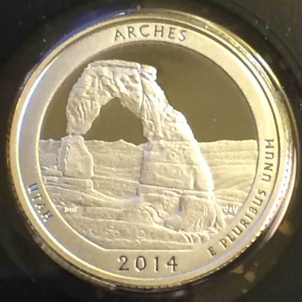 US 2014 S Silver Arches National Park ( S25C ) - Reverse