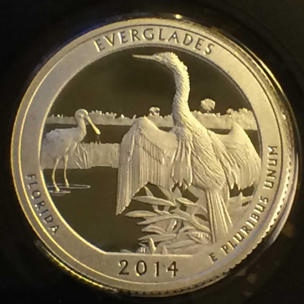 US 2014 S Silver Everglades National Park ( S25C ) - Reverse