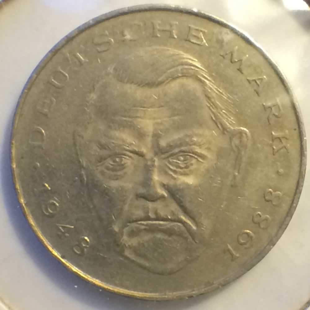 Germany 1991 A 2 Mark Ludwig Erhard ( DM 2 ) - Obverse